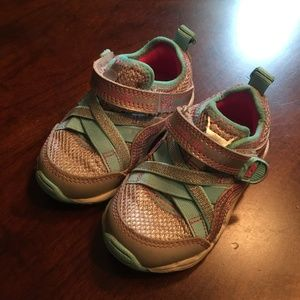Other - Girl Toddler shoes, silver and teal